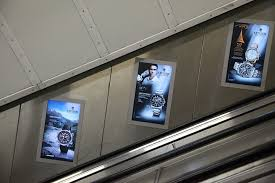 Underground escalator advertising