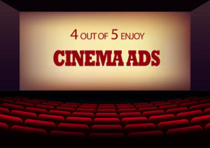 Cinema or Movie theatre onscreen advertising. Advertising Company London